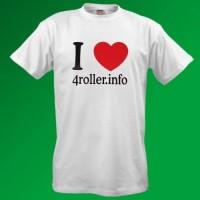 Футболка I love 4roller.info t-short