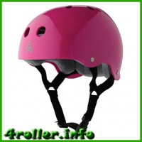 Triple Eight Brainsaver Glossy Helmet with Sweatsaver Liner pink