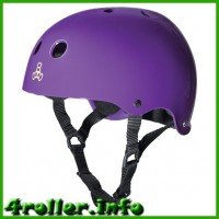 Triple Eight Brainsaver Glossy Helmet with Sweatsaver Liner pulple