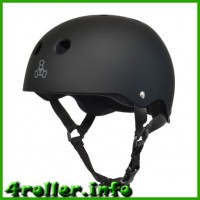 Triple Eight Brainsaver Rubber Helmet with Sweatsaver Liner black