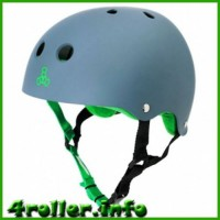 Triple Eight Brainsaver Rubber Helmet with Sweatsaver Liner Carbon