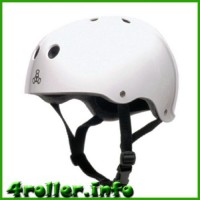 Triple Eight Brainsaver Rubber Helmet with Sweatsaver Liner white