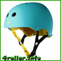 Triple Eight Brainsaver Rubber Helmet with Sweatsaver Liner baja teal