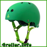 Triple Eight Brainsaver Rubber Helmet with Sweatsaver Liner Green