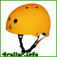 Triple Eight Brainsaver Rubber Helmet with Sweatsaver Liner yellow
