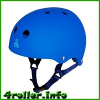 Triple Eight Brainsaver Rubber Helmet with Sweatsaver Liner blue