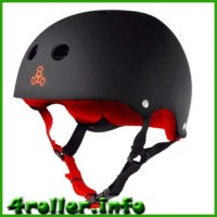 Triple Eight Brainsaver Rubber Helmet with Sweatsaver Liner black/red