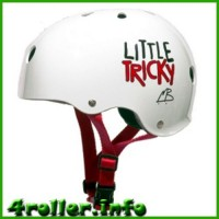 Triple Eight Little Tricky CPSC Youth Certified Helmet white